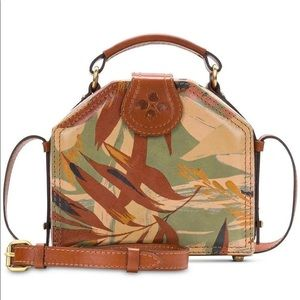 Particia Nash Brown Foliage Print Crossbody